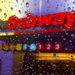 SUBWAY in the rain