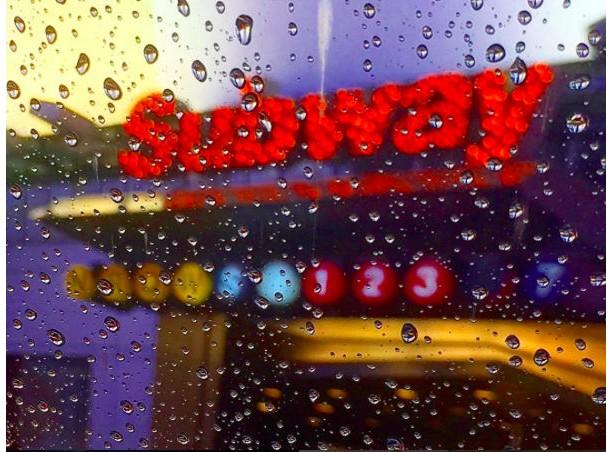SUBWAY in the rain
