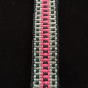 Inkle Loom woven decorative trim, 100% Cotton.  Item #23-1345.