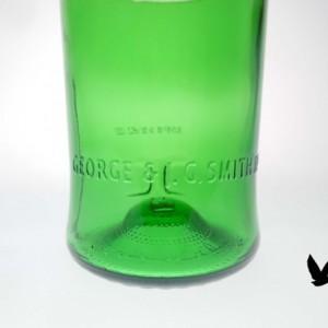 Glenlivet Single Malt Whisky Bottle (750mil) upcycled glass  Groomsman Gift  Mancave Toasting Weddings Bridal Shower Unique Trendy Upscale
