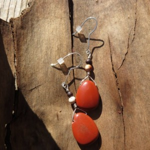 Handmade Jasper and Sterling Earrings