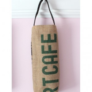Upcycled Coffee Sack Wine Tote
