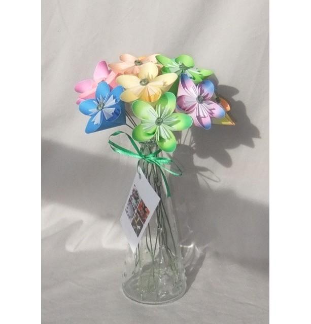 Pastel Origami Flower Bouquet | aftcra