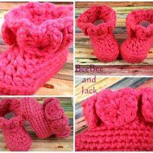 Fairy Baby Booties 3-6 Months