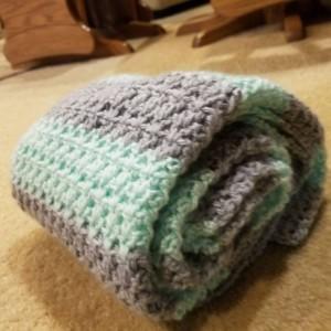 Baby blanket. Nursery decor. Handmade baby gift