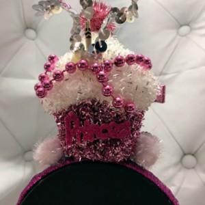 Happy Birthday Princess Cup Cake Tiara Headband