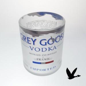 8 pc Grey Goose Bottle Upcycled Glasses  Set  of 4- 1L + 4 Shotglasses