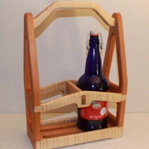 Custom Hand craftered Beer Tote Wine Tote Half Growler 1 quart