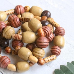 Wooden Beads Necklace, Earthy Colors Necklace, Boho Necklace