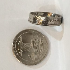 Rhode Island 2018 State Quarter Coin Ring