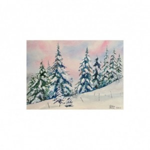 Wintergreens Watercolor Print from Original Painting, 8x10