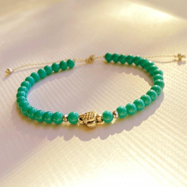 Delicate Turquoise Turtle Bracelet