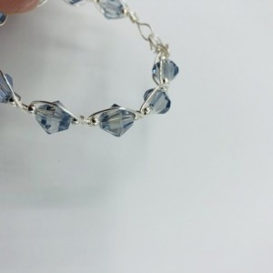 Silver and Periwinkle Crystal Bracelet