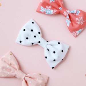 Clip or Headband fabric bow (Set of 3), newborn baby headband, toddler clips