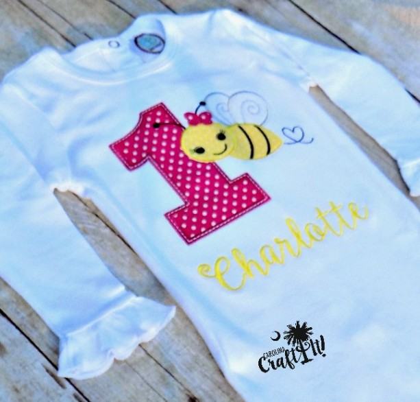 Girls Bumble Bee Birthday Shirts Toddlers Infants