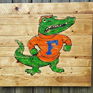 Large Rustic Handmade University of Florida Reclaimed Wooden Pallet Sign