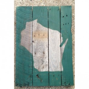Wisconsin - Wood Pallet Sign 18x24
