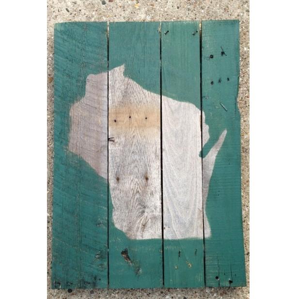 Wisconsin - Wood Pallet Sign 18x24