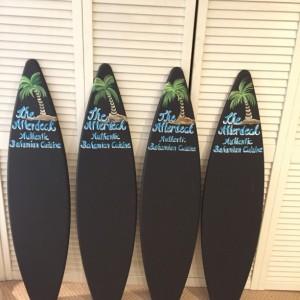 Chalkboard surfboard personalized for free