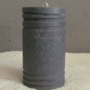 Gray Carvings - Custom Scented Soy Pillar Candle