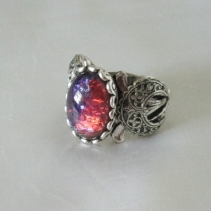 Dragons Breath Fire Opal Ring