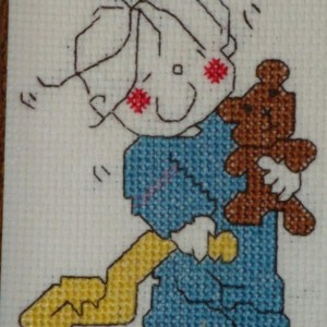 A Child's Prayer to God About Nap Time, hand stitched art