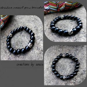 Onyx Animal Paws Bracelet