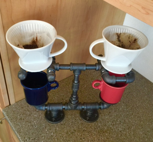 Pour Over Coffee Maker Stand : Pour Over Coffee Maker, Coffee Lovers Dream!!Double Cup Stand is aftcra