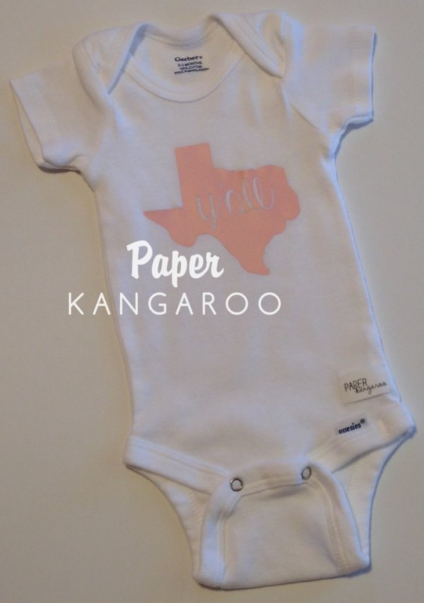 light pink, soft pink, baby pink Texas y'all snap bodysuit, 0-3 months, ready to ship