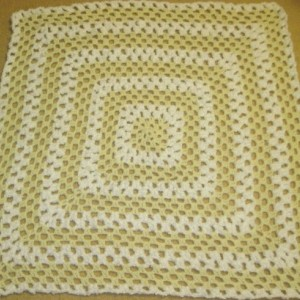 SALE! Baby Afghan Handmade Pale Yellow and White Nursery Decor