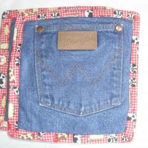 Potholders Recycled Pair for your kitchen