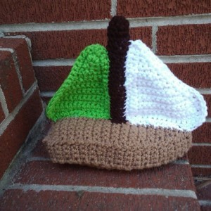 Crochet Toy Sailboat