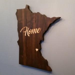 Rustic Minnesota Home State Decor