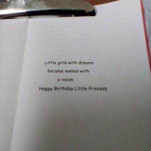 Little girl greeting card