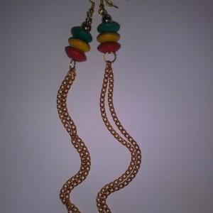 Rasta dangly earrings