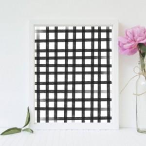 Gingham Print (Black & White) - 8x10