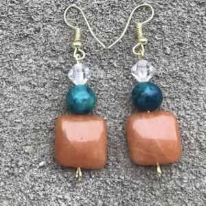 Caramel Dangling Earrings