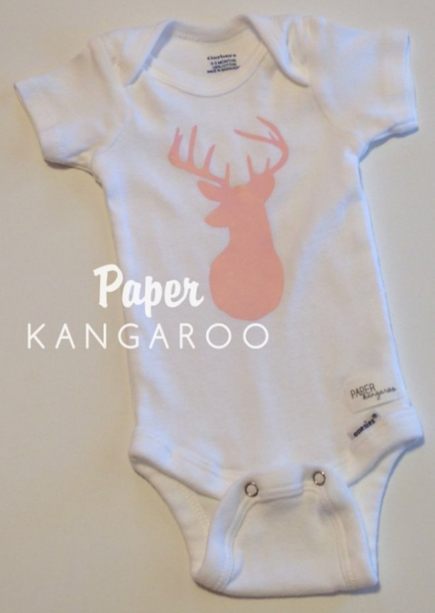light pink, baby pink, soft pink, deer snap bodysuit, 0-3 months, ready to ship