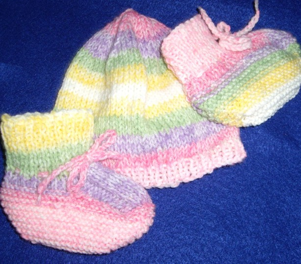 Baby Booties and Hat Sets