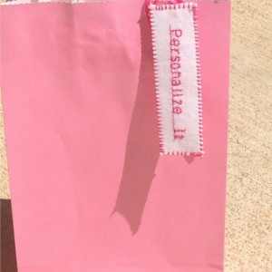 "1"" x 3 1/2"" (30) Handmade. Fabric. Personalized Tags. Wedding. Birthday. Bridal Shower. Baby Shower. Gift Bag Tags. Favor Tags. DMC Floss."