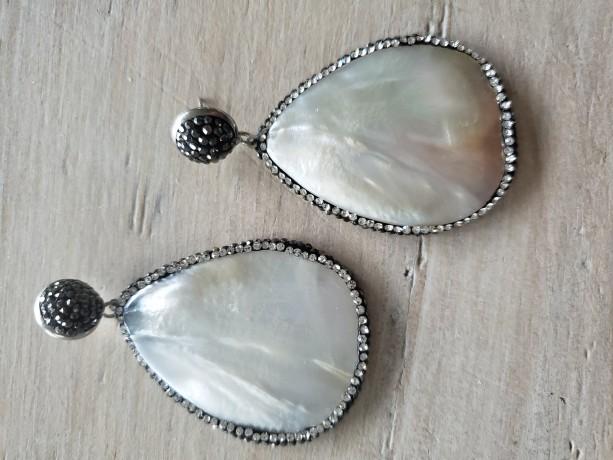 Druzy Mother of Pearl Devotionaluxe Earrings Luxe