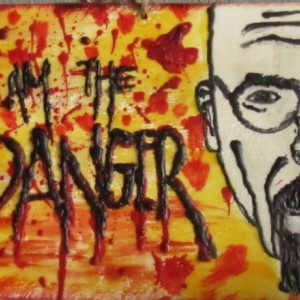 I Am The Danger - Portrait Encaustic Wax Art
