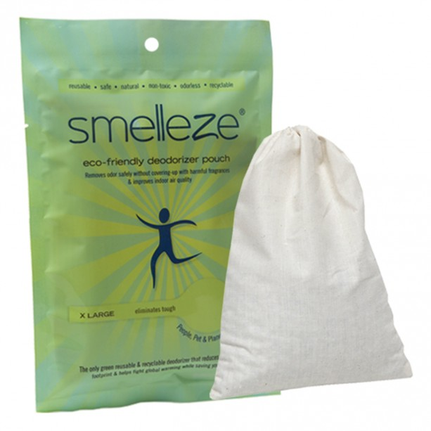 SMELLEZE Reusable Toilet Odor Removal Deodorizer Pouch: Rids Restroom Stench Without Fragrances in 300 Sq. Ft.