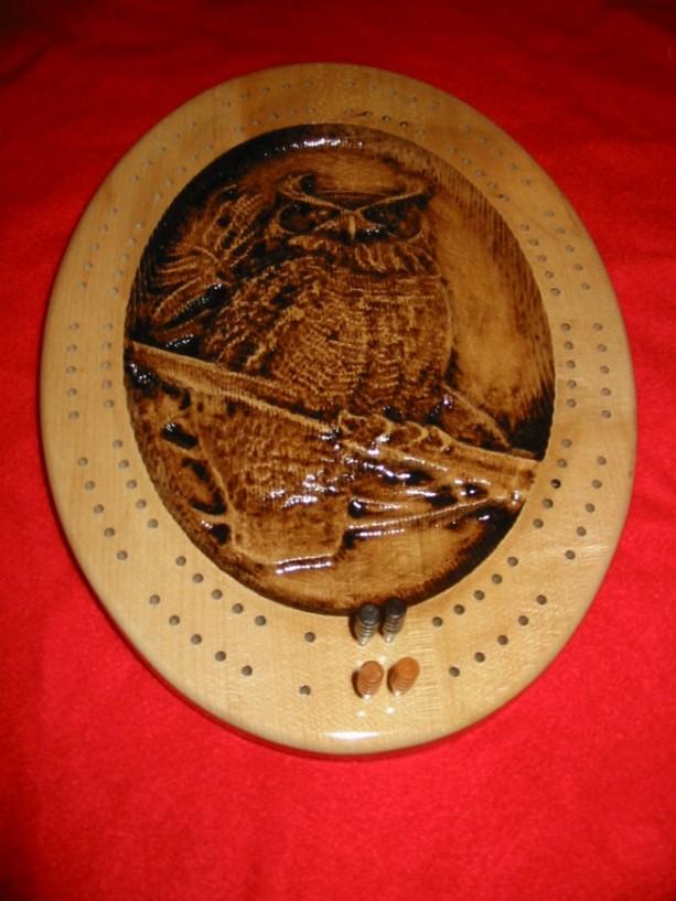 Owl Cribbage Board