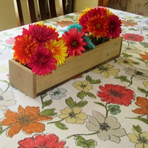 Reclaimed Unfinished Pallet Wood Planter Box • Mason Jar Centerpiece, Long wood box, Candle Holder, Wedding Centerpiece • 31 inches long