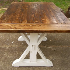 Trestle X Reclaimed Wood Table