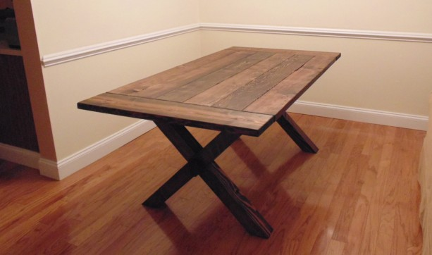 Crossed Leg Farmhouse Table