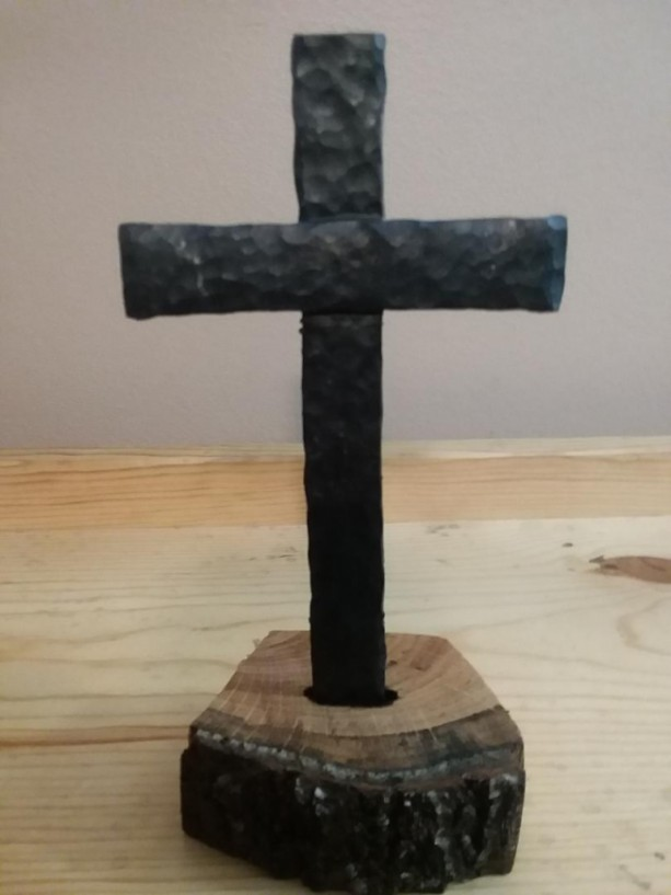 Forged Steel Crosses : Handmade forged steel cross aftcra