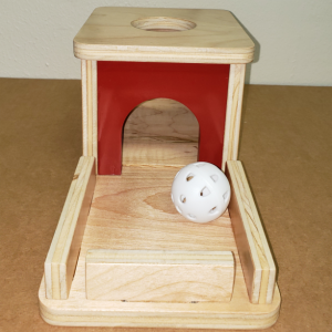 Montessori Object Permanence Box with Tray and Ball - OP102