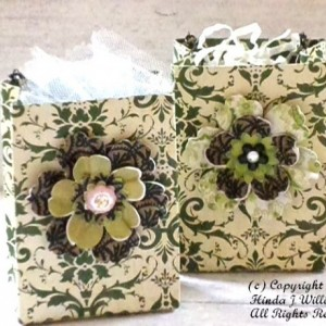 Handmade Mini Gift Bags - Kiwi